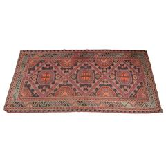 Antique Russian Sumak Rug