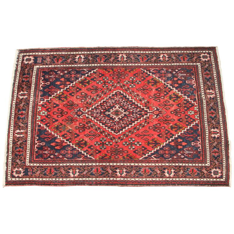 Red And Blue Persian Rug At 1stdibs