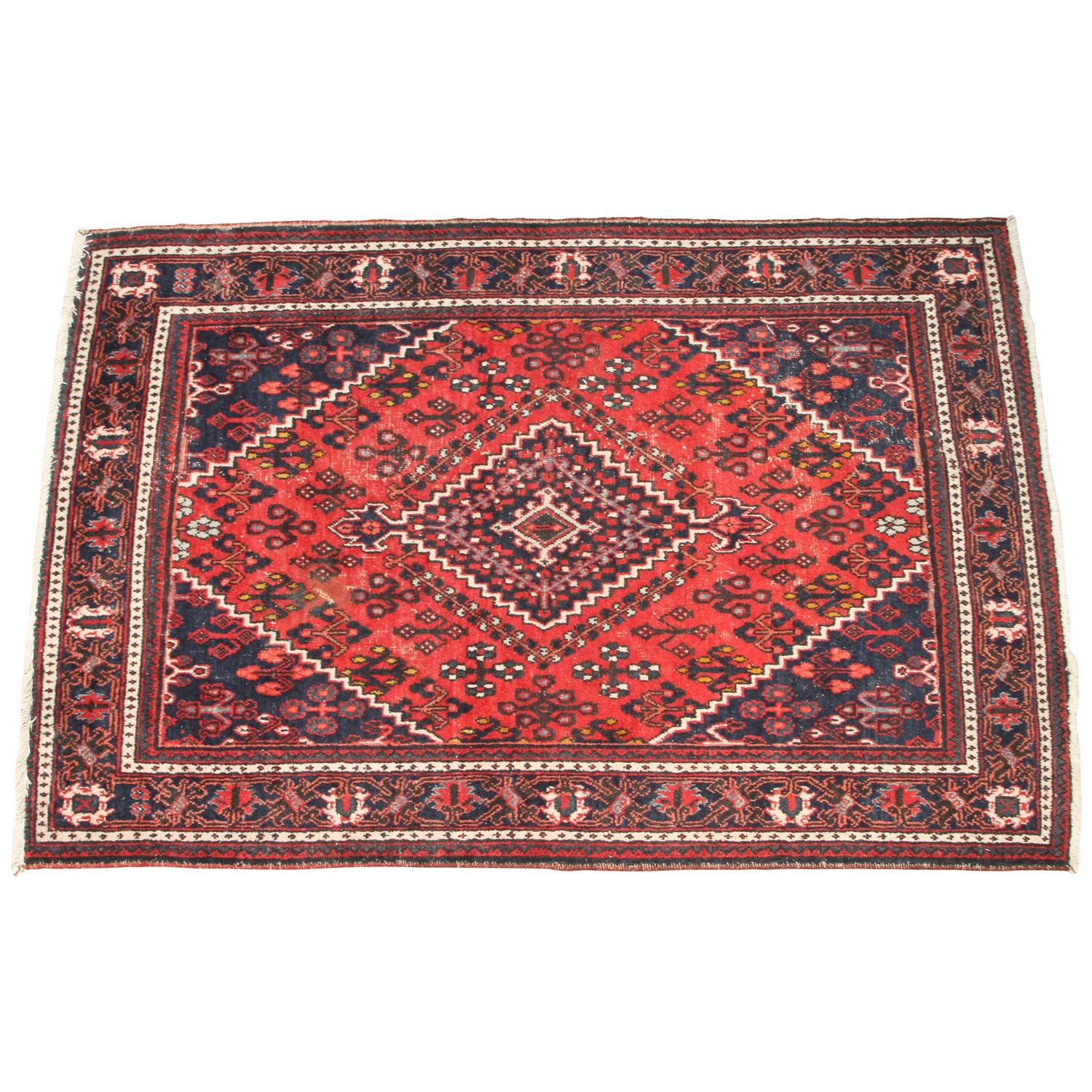 Modern Furniture With Persian Rug red and blue persian rug at 1stdibs
