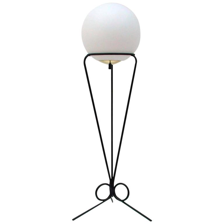French, 1950s Moon Floor Lamp in the Manner of Jean Royère