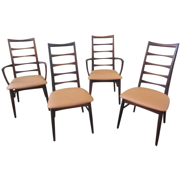 Niels Kofoed Rosewood Dining Chairs At 1stdibs