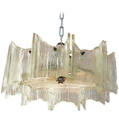 J.T. Kalmar of Austria Ice Glass Chandelier