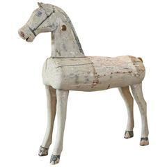 19th Century Swedish Child's Wooden Horse