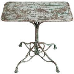 French Antique Wrought Iron Garden Table from Arras, circa 1900