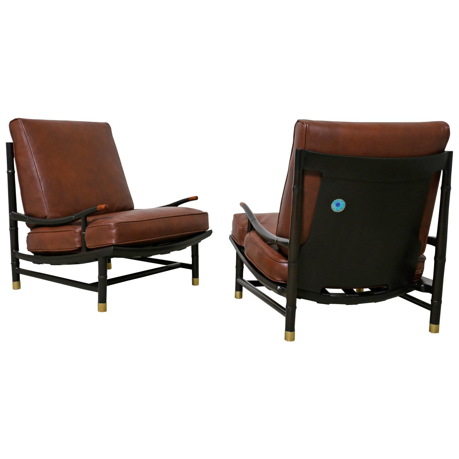 Rare Lounge Chairs by Frank Kyle with Accents by Maggie Howe For