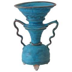 Studio Art Pottery Vase Signed and Chop Mark