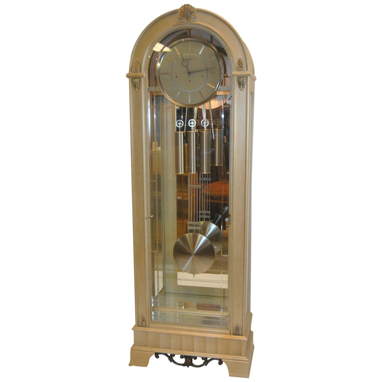 Contemporary Coastal Point Howard Miller Platinum Grandfather Clock At 1stdibs