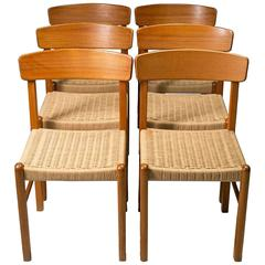 Postmodern Set of Six Dining Chairs in the style of Benny A. Linden