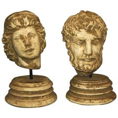 Two Classical Roman Cast Stone Busts