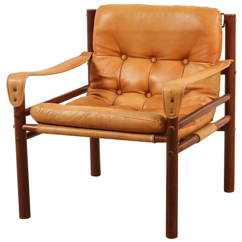 Rosewood Danish Safari Chair at 1stdibs
