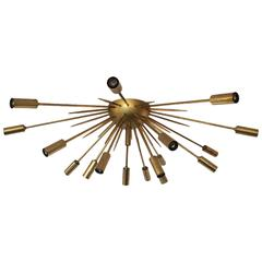 Brass Flush Mount Sputnik by Stilnovo