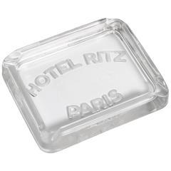 Stolen from the Hotel Ritz Paris Art Deco Glass Ashtray