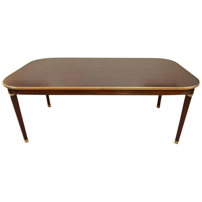 Directoire Style Walnut Dining Table