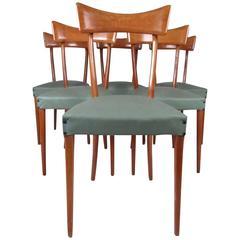 Midcentury Set of Ico Parisi Style Italian Dining Chairs