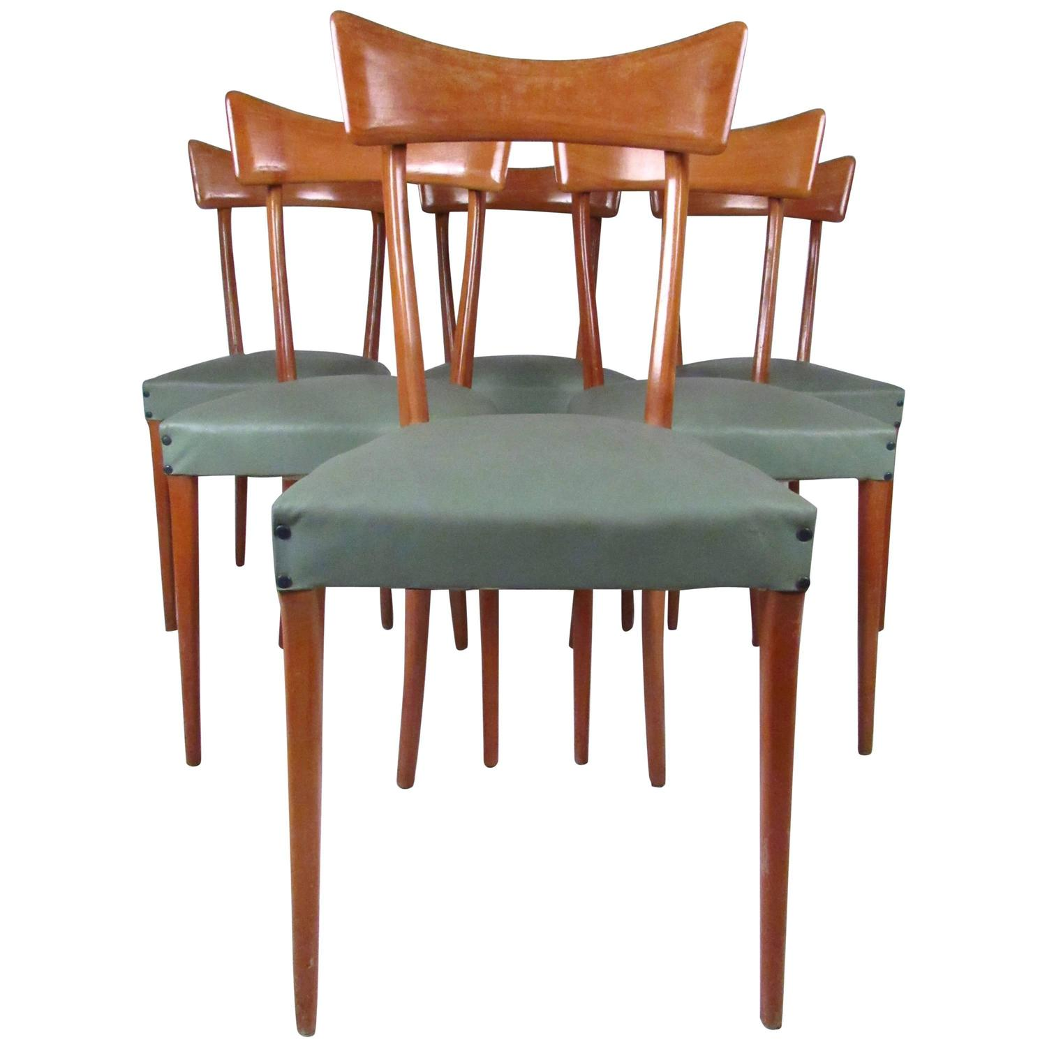 Midcentury Set Of Ico Parisi Style Italian Dining Chairs