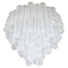 Multilayered Lattimo Glass Element Chandelier by Venini