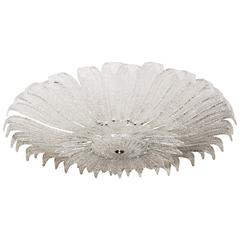 Large Floral Form Flush Mount Ceiling Fixture