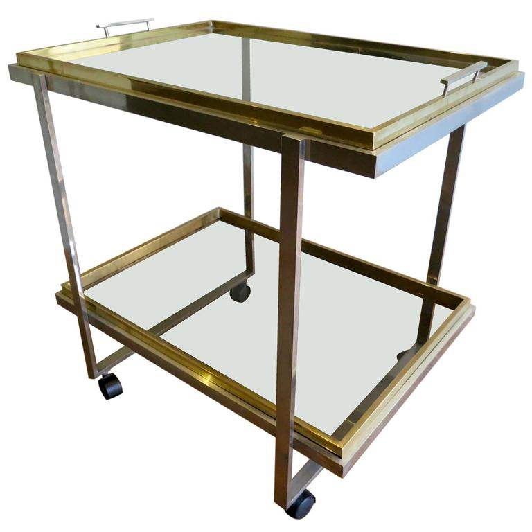 Brass And Chrome Drinks Trolly Or Bar Cart At 1stdibs