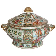 Rose Medallion Chinese Export Tureen