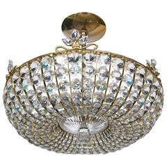 French Beaded Crystal Light Fixture