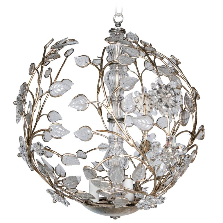 French Silvered Light Fixture