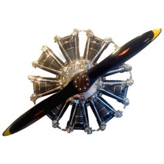 Pratt & Whitney Aircraft Engine Wall Decoration with Propeller