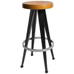 Modernist Bar Stool after Jean Prouve, circa 1990s