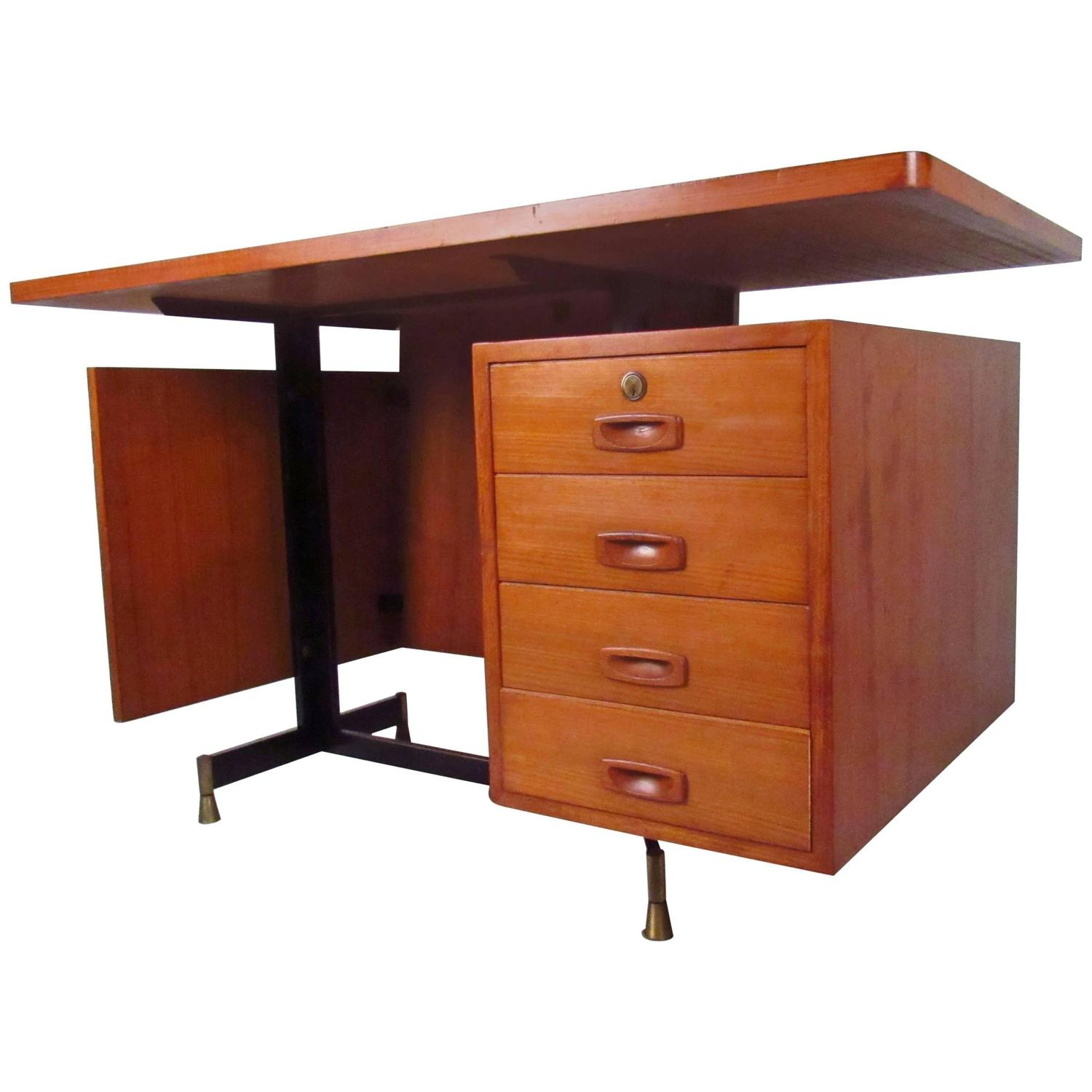 Midcentury danish floating top desk for sale at 1stdibs for Floating desk for sale