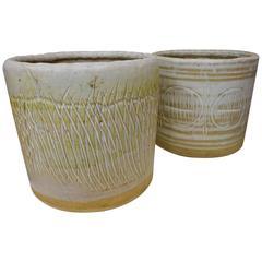 Pair of Ceramic Vessels by Martz Studios