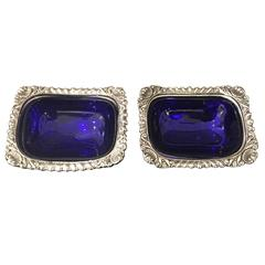 Pair of Silver Plated Salt and Pepper Cellars