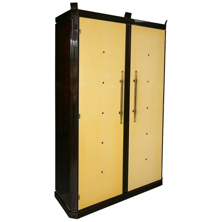 parzinger originals art deco wardrobe entertainment center for sale at 1stdibs. Black Bedroom Furniture Sets. Home Design Ideas