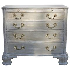 Century Greywashed French Country-Style Four-Drawer Dresser with Ornate Pull