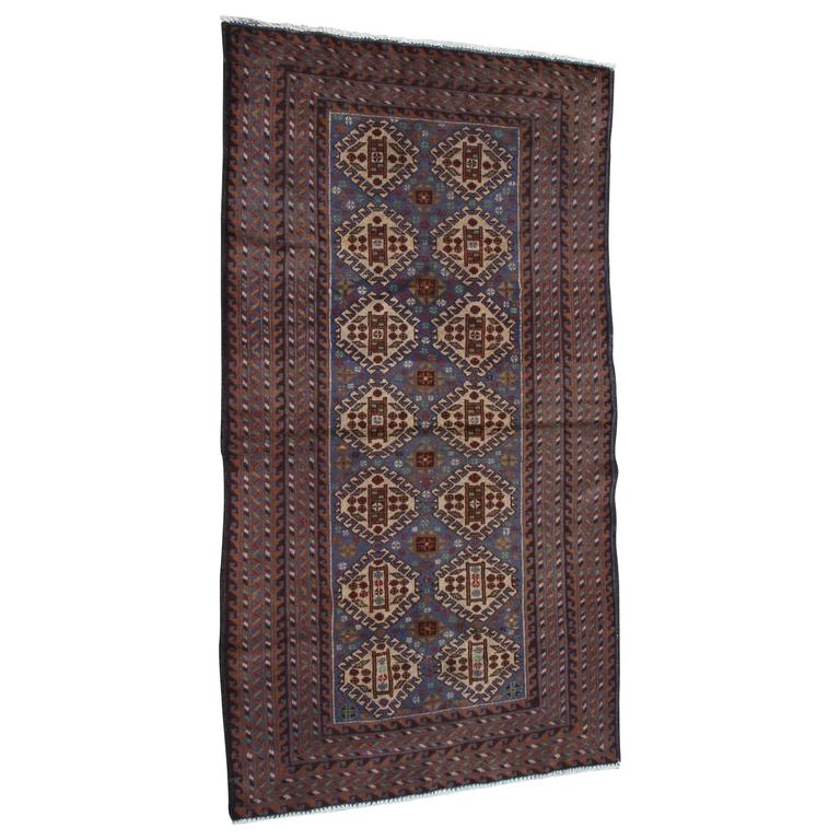 Multicolored Antique Persian Baluchi Rug For Sale At 1stdibs