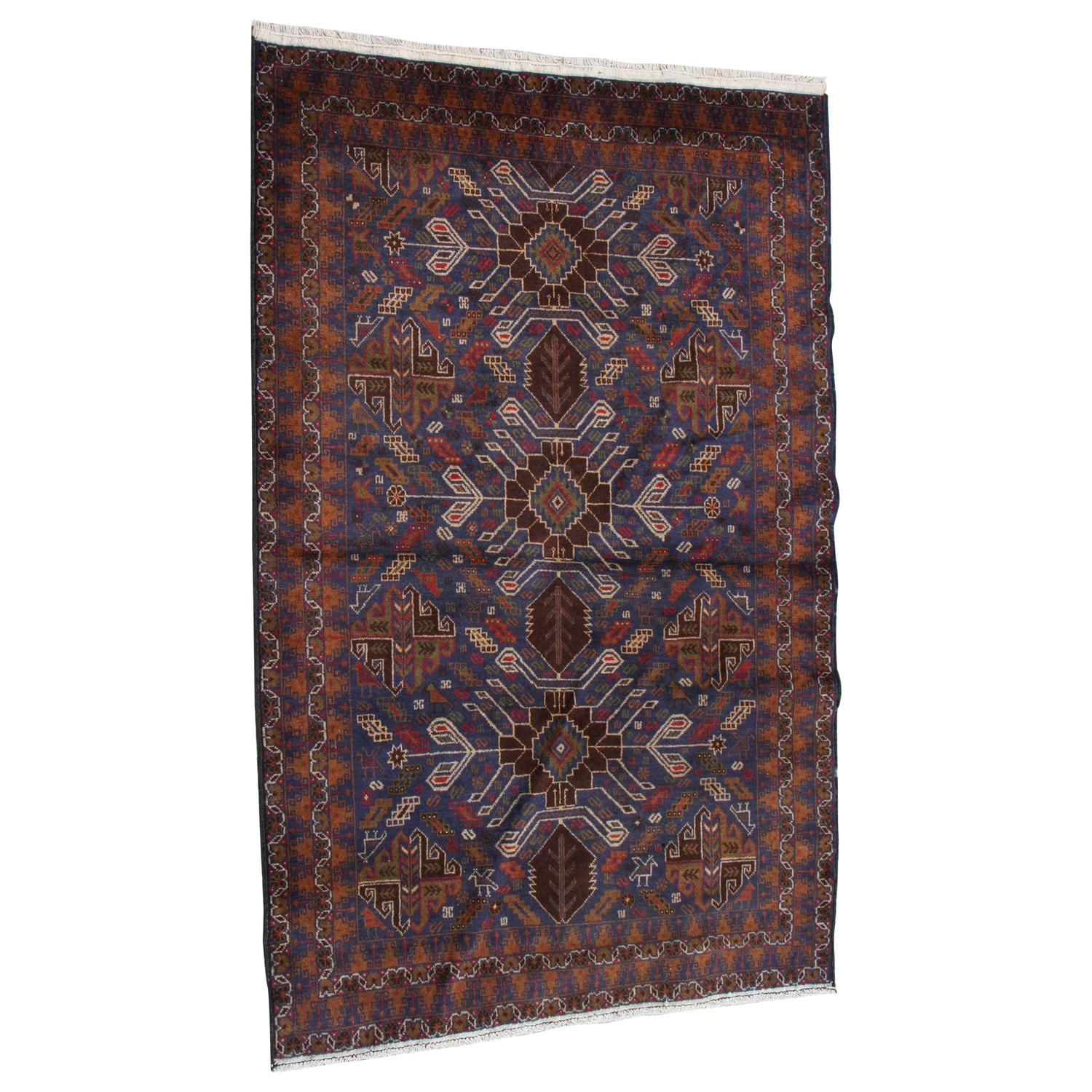 Floral Antique Persian Baluchi Rug For Sale At 1stdibs