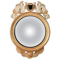 Leopard Convex Mirror in the Regency manner