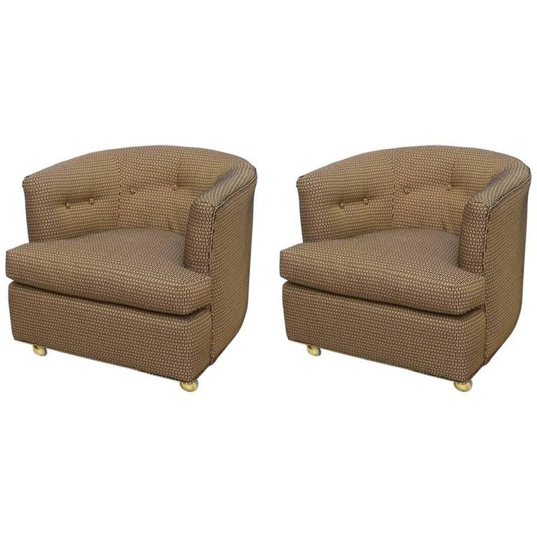 Gorgeous Pair of Milo Baughman Swivel or Roller Chairs, 1970s, USA