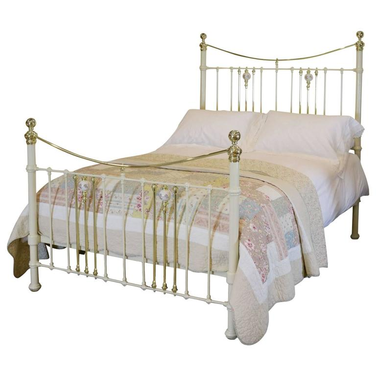 Brass and Iron Bed with China Porcelain - MK67