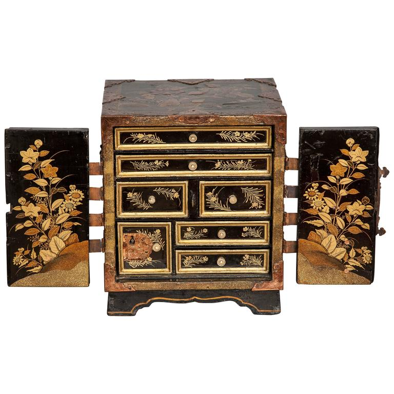 A japanese lacquer cabinet of small proportions ca 1750 for Asian furniture emeryville ca