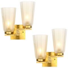 "Murano ""Avventurina"" Glass Cups Sconces"