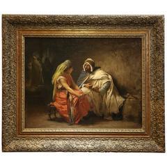 Painting by Frederick Arthur Bridgman, American Orientalist