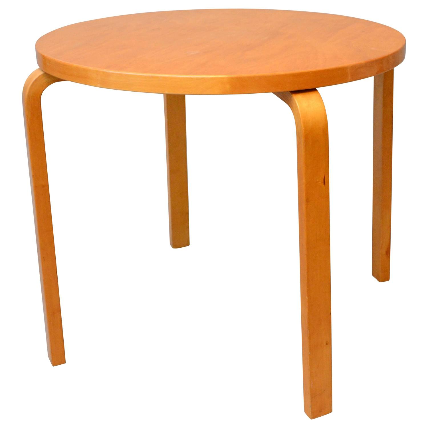 Round Table A70 by Alvar Aalto for Artek Finland 1930s 1940s For