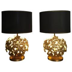 Pair of Table Lamps by Angelo Brotto