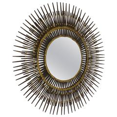 Handmade Brutalist Sunburst Wall Mirror by Bela