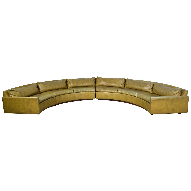 Milo Baughman Semi Circular Sectional Sofa At 1stdibs