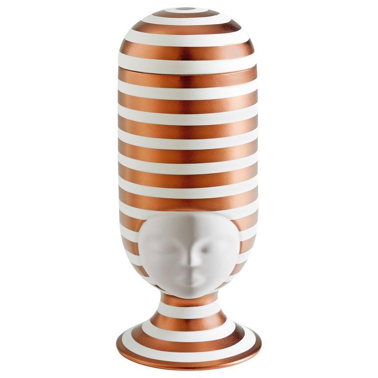 Sister Clara Vase Special Edition Copper Stripes Designed by Pepa Reverter For Sale