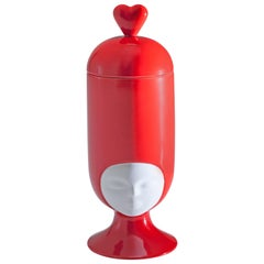 Sister Clara Vase Special Edition in Bright Red Designed by Pepa Reverter