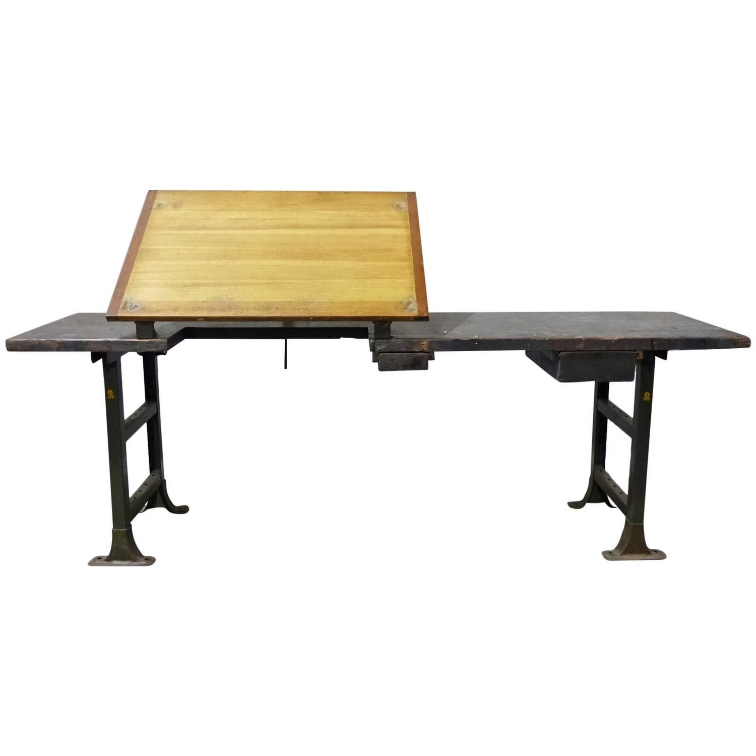 industrial drafting table work station at 1stdibs