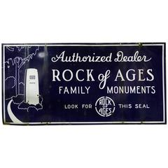 1940 Monumental Two-Sided Porcelain Advertising Sign