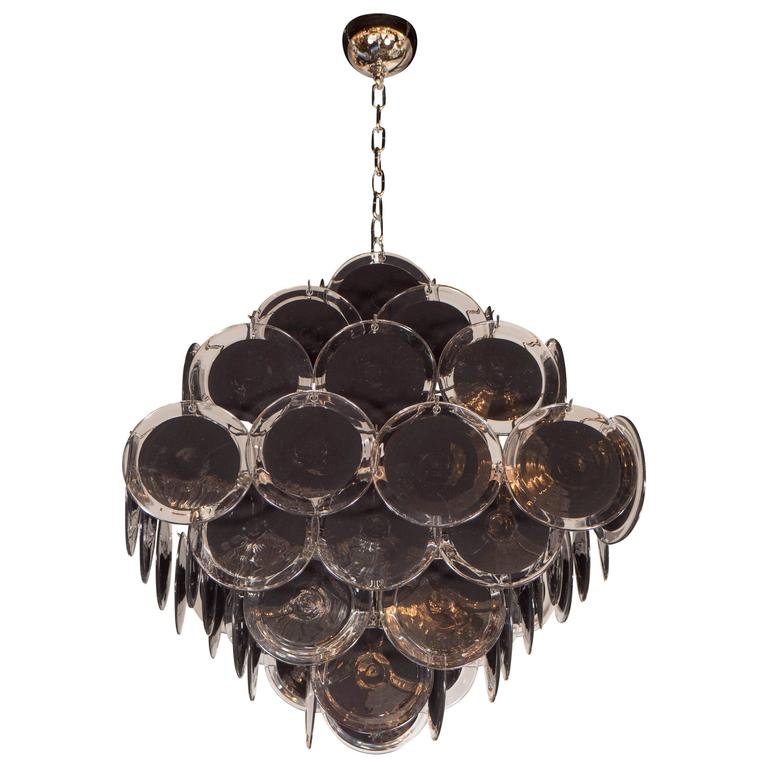 Ultra chic modernist diamond shaped black murano glass chandelier by ultra chic modernist diamond shaped black murano glass chandelier by vistosi for sale aloadofball Choice Image