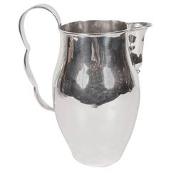 Stunning Handled Pitcher in Hand-Wrought Sterling Silver by William Spratling